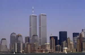 The lower Manhattan skyline featuring the World Trade Center, New York City, USA