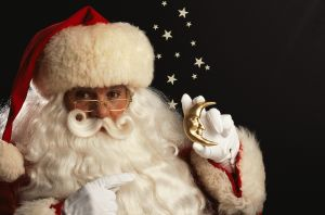Santa Claus with Moon Ornament