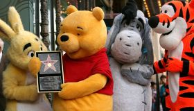 Winnie The Pooh Receives A Star On Hollywood Walk of Fame