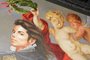 The Deitch Gallery, a painting by artist Kehinde Wiley