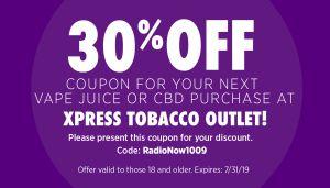 Xpress Tobacco Coupon July