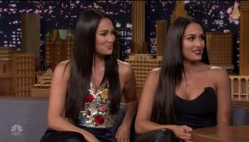 Nikki & Brie Bella during an appearance on NBC's 'The Tonight Show Starring Jimmy Fallon.'