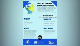 E.M.U. Mental Health Campaign Graphics