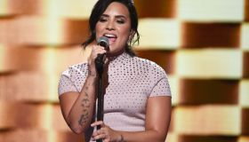 Demi Lovato sings at the 2016 Democratic National Convention