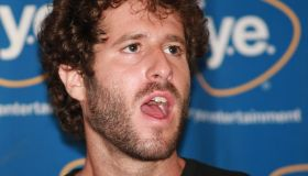 Lil Dicky signs copies of his new album 'Professional Rapper'