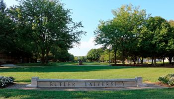 Butler University campus green in Indianapolis