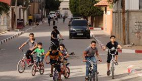 PALESTINIAN-HEALTH-VIRUS-CYCLING-GAZA