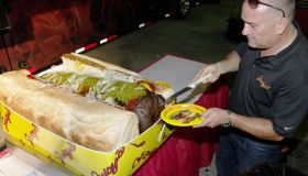 Hot dog - it's the world's largest commercial wiener and it weighs a mammoth 125.5 pounds!