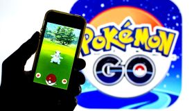 In this photo illustration a Pokémon GO app seen displayed...