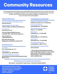 Suicide Prevention Info