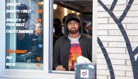 """Eminem's """"Mom's Spaghetti"""" Restaurant Opens In Detroit"""